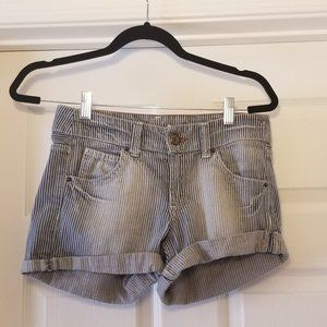 Divided By H&M Denim Striped Short Sz 6